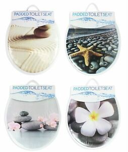 Soft-Padded-Adult-Toilet-Seat-Bathroom-PVC-Wipe-Clean-Comfort-Home