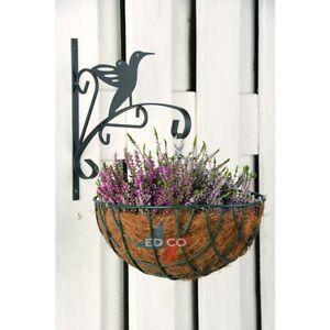 Garden hanging basket metal wall bracket bird hanging wall image is loading garden hanging basket metal wall bracket bird hanging workwithnaturefo