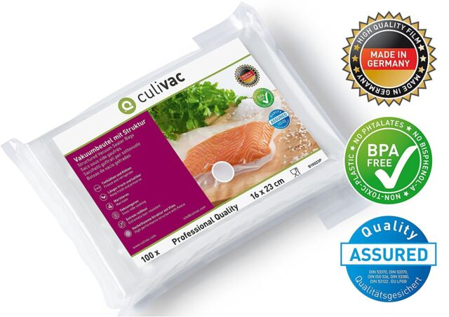 Culivac Vacuum Food Sealer Bags Professional 16 x 23 centimetres B16023P 100