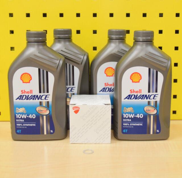 Ducati 748 916 996 998 1098 1198 Original Filtro Shell Advance Ultra 10w40