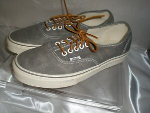 13fe70005f VANS OFF THE WALL Gray Canvas Low Top SKATER SHOES Women Sz 9.5 Mens ...