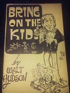 Walt-Hudson-BRING-ON-THE-KIDS-BOOKLET-Signed-Autographed