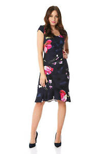 Roman-Originals-Women-Floral-Print-Midi-Ruffle-Hem-Dress
