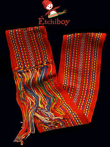 Metis Sash Etchiboy Ceinture Flechee Carnaval Red Rouge Polyester