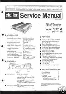 Pe 760 A Liefern Clarion Original Service Manual F Tv, Video & Audio