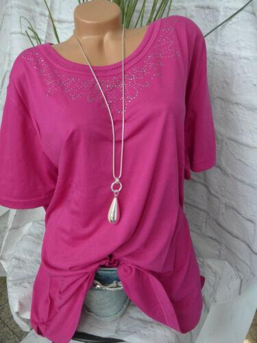 M Collection camisa túnica rosa talla 60 hasta 62 lentejuelas sobre tamaño 554