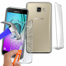 Tempered Glass Screen Protector + Silicone Gel Case Cover Samsung A5 (6) 2016