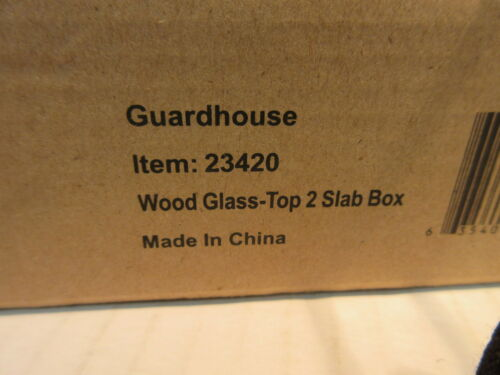 Guardhouse Universal Glass Top Display Box for 2 Slabs Certified Coins NGC PCGS