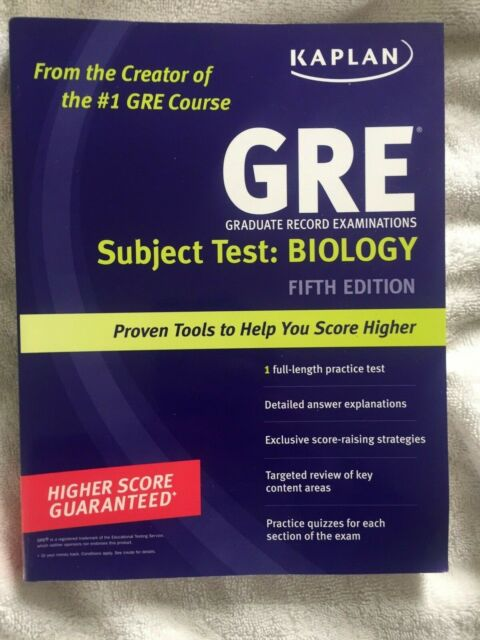 GRE Exam Subject Test - Biology (2010, Paperback)
