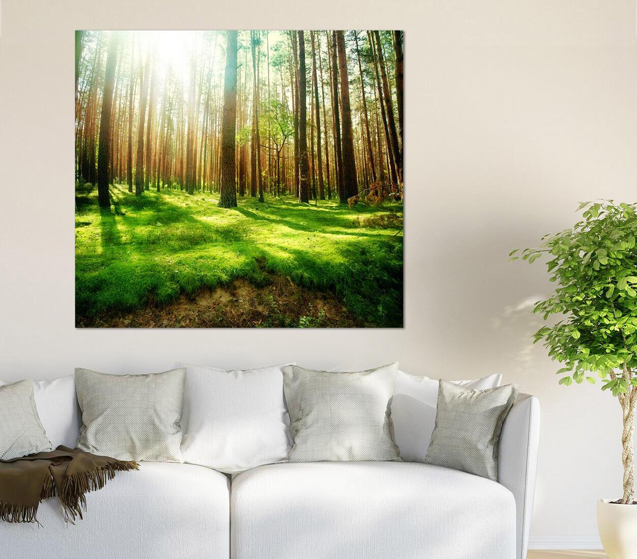 3D greenes Wiese Hain Sonne 903 Fototapeten Wandbild BildTapete AJSTORE DE Lemon