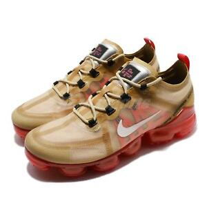 da706318e93 Nike Air Vapormax 2019 Club Gold Light Cream Crimson Men Running ...