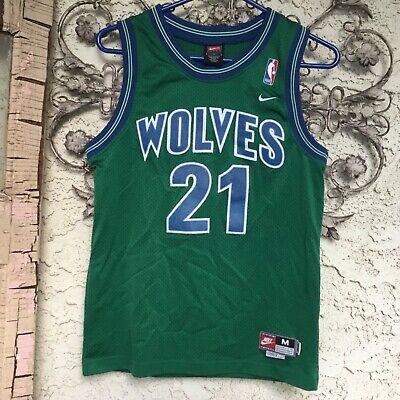 Vintage Rare Green Nike Minnesota Timberwolves Nba Jersey Kevin