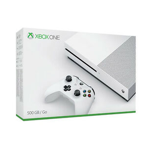 microsoft xbox one s gaming console 500gb go wifi capable white ebay