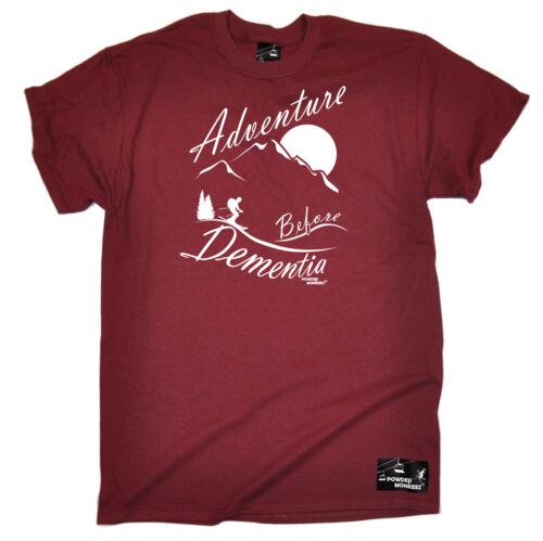 Aventure Avant La Démence Ski T-shirt snskiing Ski Alpes anniversaire Fashion Cadeau