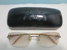 Used ANNA SUI Rimless Sunglasses With Rhinestones AS56703