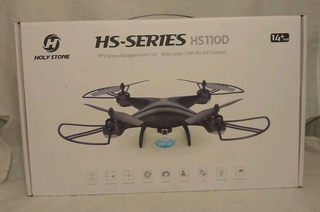 Holy Stone HS110D 2.4G RC Drone with  HD telecamera 720P FPV WIFI Selfie Quadcopter  alta qualità e spedizione veloce