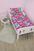 PAW PATROL 'STARS' JUNIOR TODDLER COT BED SIZE GIRLS PINK DUVET QUILT COVER SET