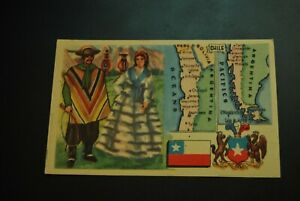 Vintage-Cigarettes-Card-CHILE-REGIONS-OF-THE-WORLD-COLLECTION-Rare