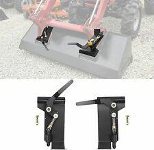 Weld On Skid Steer Quick Attach Bucket Conversion Adapter Latch Plates Universal