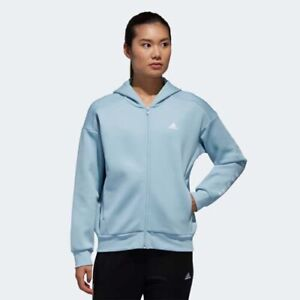 Details about Adidas DV0781 Women ATHLETICS S2S Street hoodie track top jacket blue