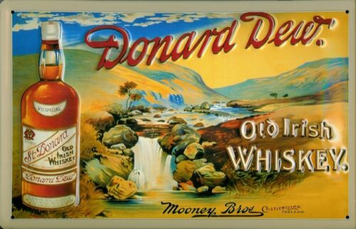 Donard Dew Irish Whiskey Metal Sign Signboard 3D Embossed Tin 7 7//8x11 13//16in
