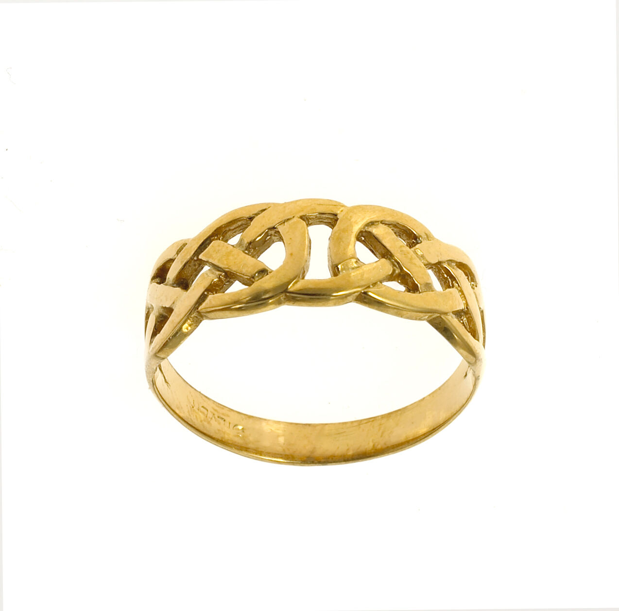 Knot Ring Yellow gold Celtic Ladies Solid gold Ring Hallmarked Size F - V