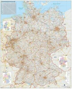 Verkehrswegekarte-Deutschland-Wandkarte-Poster-gerollt-im-Kunststoffrohr