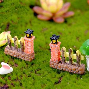 Cancello Recinto Miniature Per Gnomi Da Giardino Fatato Decorazione
