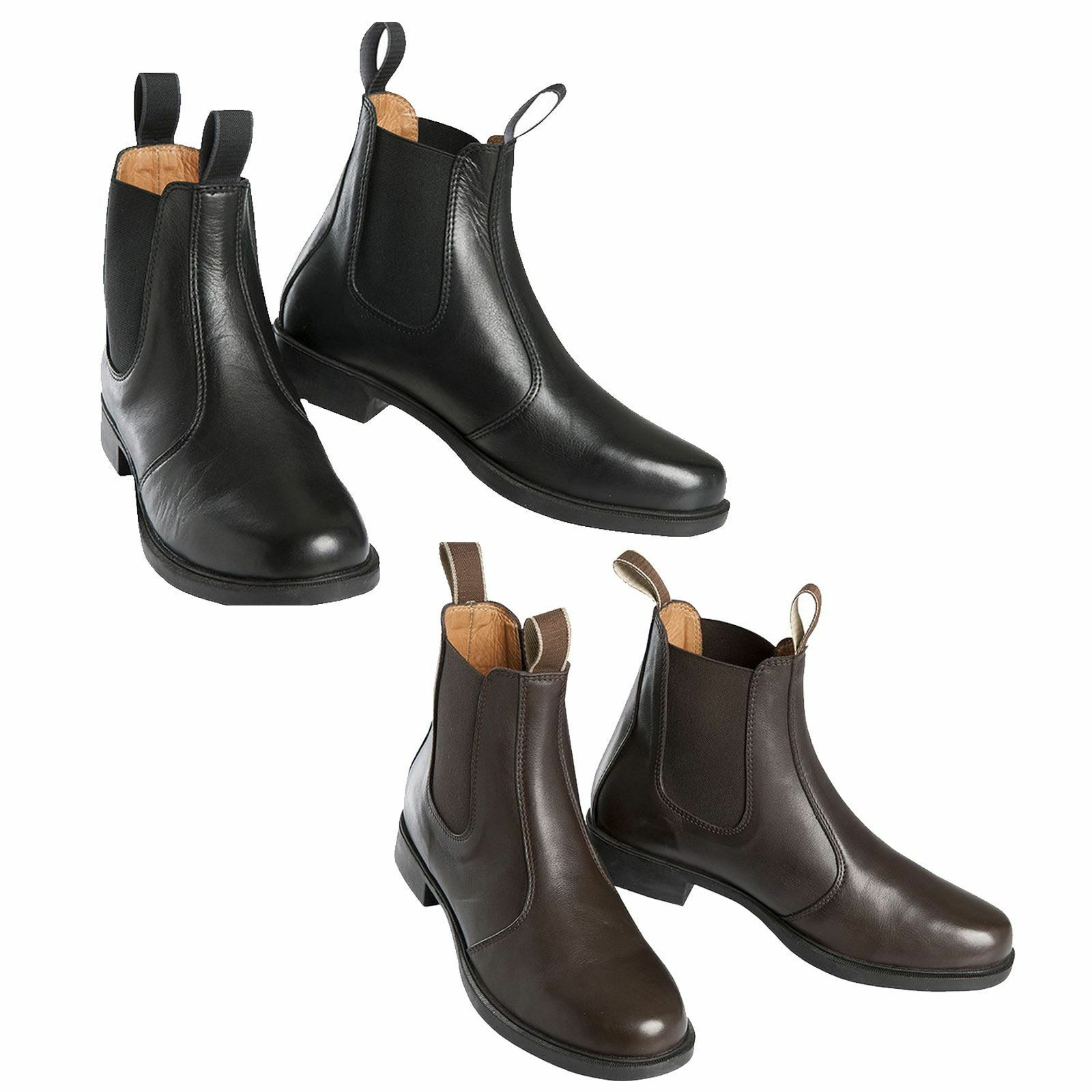 Equi-Theme Buenos Aires Mens Womens Leather Eventing Horse Riding Jodhpur Boots