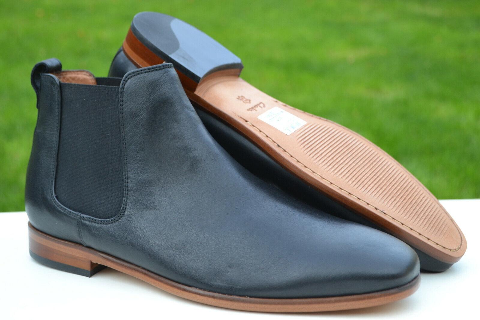 Clarks BNIB Mens Welted Chelsea Boots CODE HI Black Leather UK 10 / 44.5