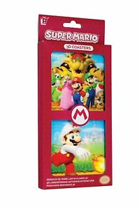 Super-Mario-3D-Coasters-Multi-Colour-NEW-BOXED-DRINKS-PACK-OF-8