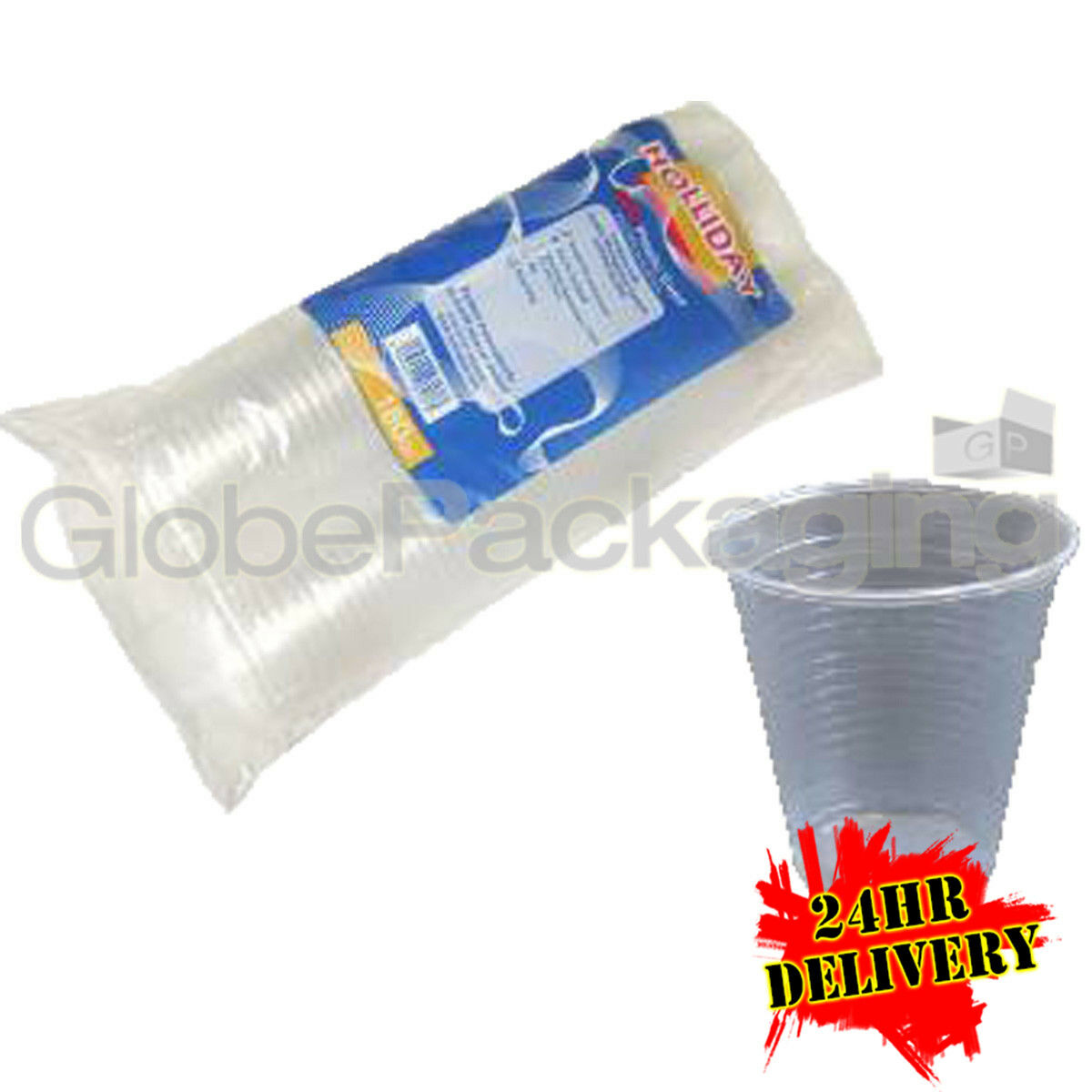 3000 x CLEAR Disposable 7oz PLASTIC CUPS GLASSES 24HRS