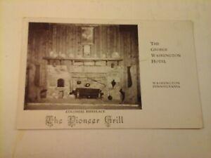 Vtg-1940-039-s-RPPC-Postcard-GEORGE-WASHINGTON-HOTEL-PIONEER-GRILL-PENNSYLVANIA-PA