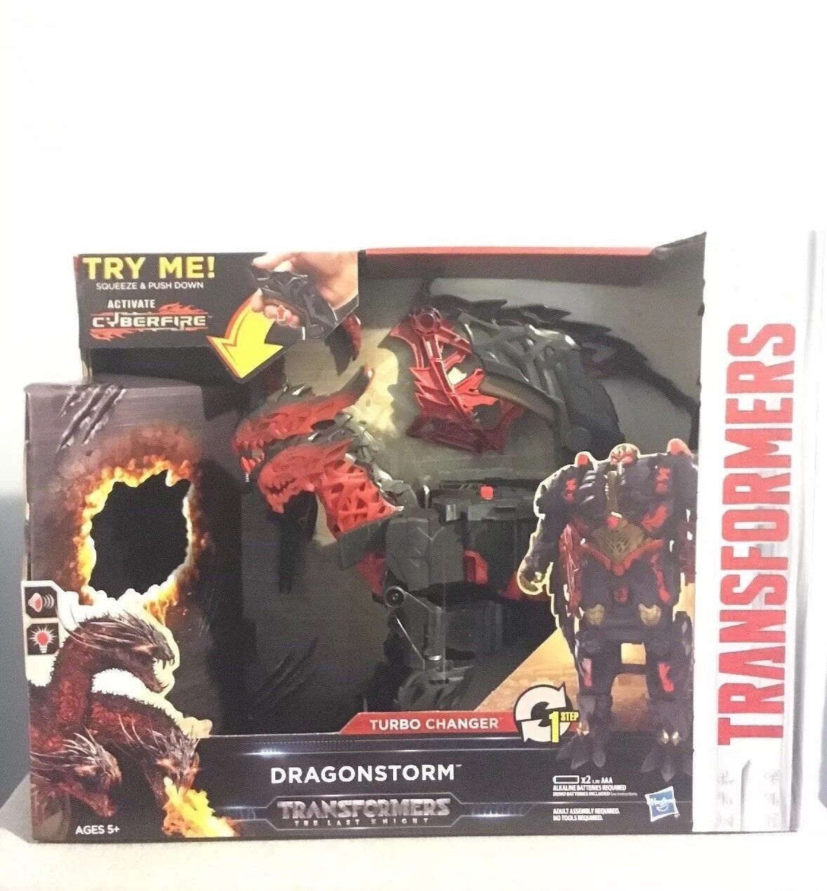Hasbro The Last Knight Mega 1-Step Turbo Changer Dragonstorm Transformer Figure