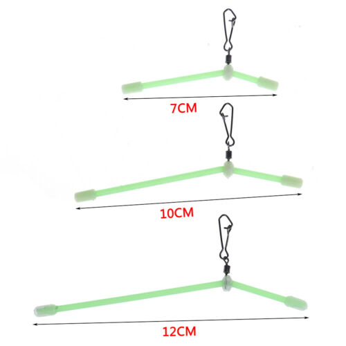 5pcs Fishing Hooked Balance Plastic Head Snaps with Strong Pin Lure Connector TS