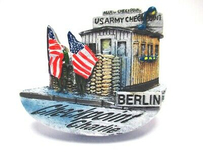 Berlin Magnet Poly Souvenir Germany Checkpoint Charlie Mauer