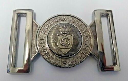 Genuine Royal Anguilla Police Force Insignia Belt Buckle Chrome Locket MFB02