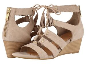 4190045e6bb Details about UGG YASMIN SNAKE EMBOSSED TAUPE LEATHER LACE UP WEDGE SANDALS  SIZE US 9~NIB