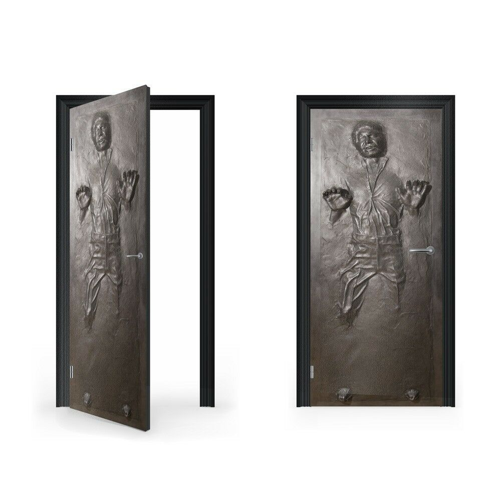 Han Solo in Carbonite Vinyl Sticker for Door   DoorWrap   Door Skin   Door St...