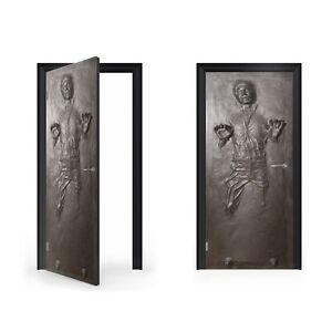 Adesivi Vinile Per Porte.Ian Solo In Carbonite Adesivo Vinile Per Porte Doorwrap Porta