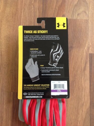 Under Armour Men/'s Adult Football Gloves for Skilled Players; Mult Sizes S-XXL