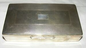VINTAGE-ARISTOCRAT-SILVER-PLATED-CIGARETTE-CIGAR-TRINKET-BOX-WOOD-LINED-2