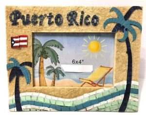 PUERTO-RICO-FLAG-BEACH-PALMS-TABLE-PHOTO-FRAME-GIFT-SOUVENIRS-pictures-6x4