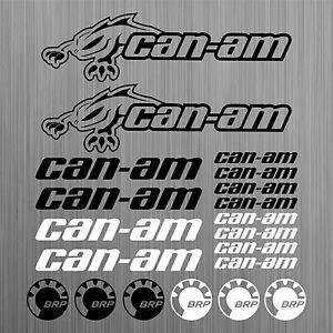 can-am-canam-BRP-aufkleber-sticker-quad-ATV-20-Stucke-Pieces