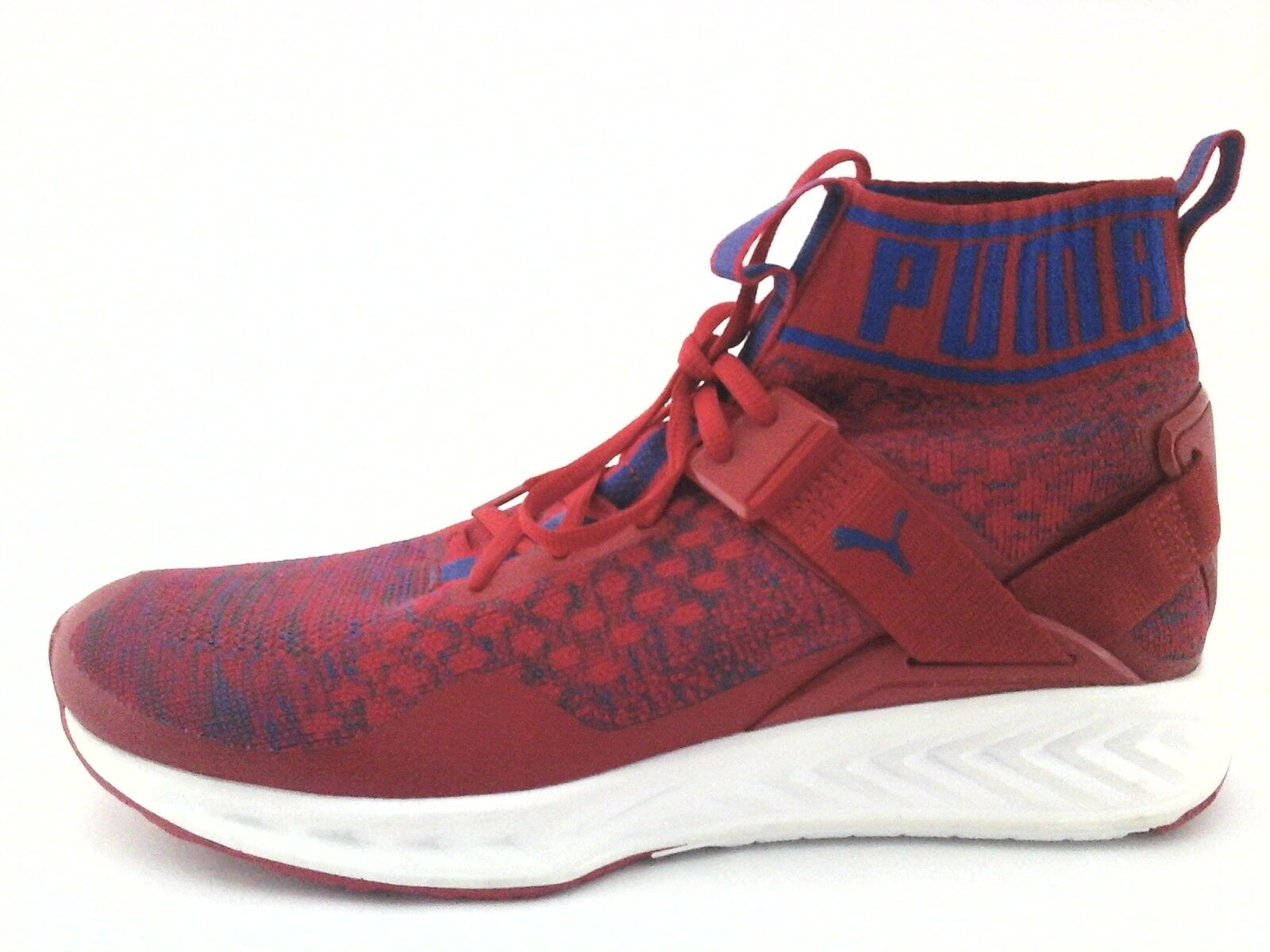 PUMA Shoes Ignite EVO KNIT SNEAKERS High Top Red/Blue Men's US 10.5 Price reduction