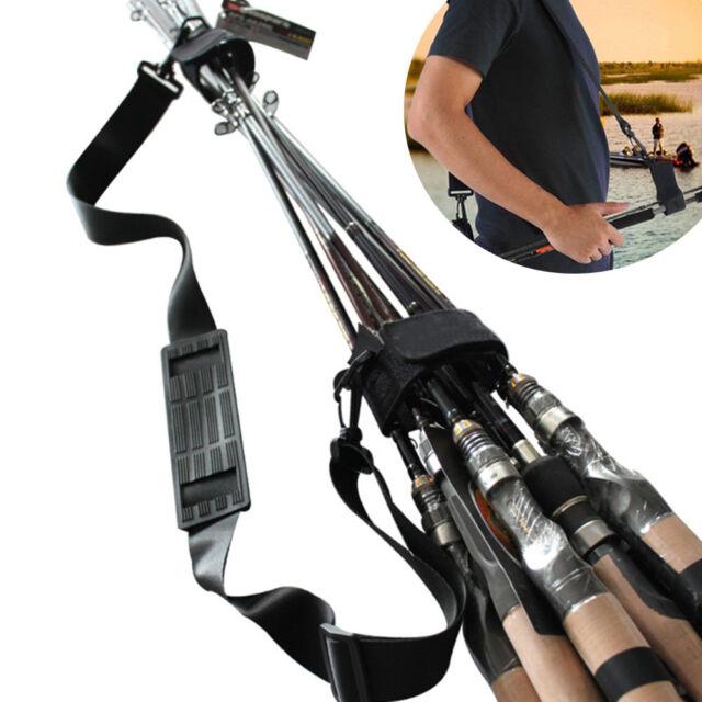 Fishing Rod Carry Strap Bandage Sling Band Portable Shoulder Belt Tackle Holder
