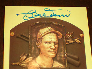 Bobby Doerr Boston Red Sox Signed autographed Yellow HOF Plaque