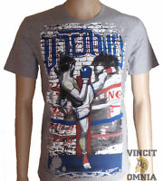Tee Shirt T-shirt Muay Thai / Boxe Thai ring Fighter Gris