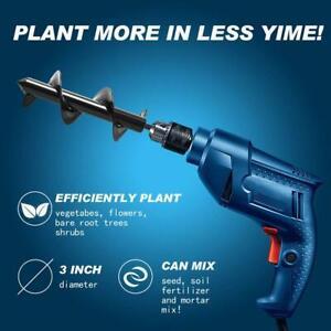 Garden-Auger-Power-Earth-Post-Hole-Digger-Planter-Drill-Bit-8X18cm-25cm-30cm