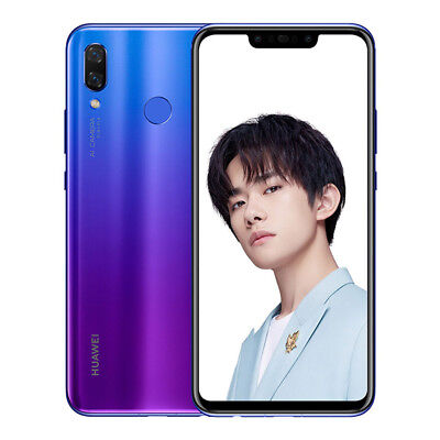 "HUAWEI Nova 3 Purple 6/128GB 6.3"" Dual 24MP FHD+ Kirin970 Android Phone By FedEx"